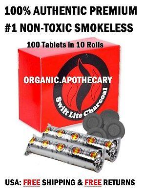 #1 BEST LARGE 40mm Charcoal Tablets Incense Hookah 1 2 3 4 5 6 10 Shisha 100