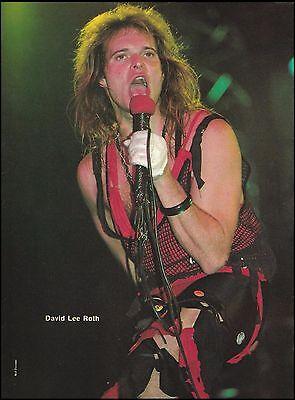 David Lee Roth (Van Halen) 1984 live onstage 8 x 11 pinup photo