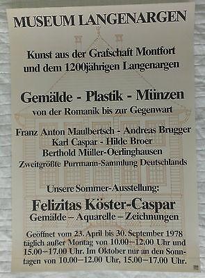 Plakat Poster - Ausstellung Felizitas Köster-Caspar 1978 - Langenargen Bodensee