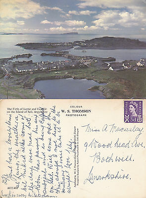 1960's FIRTH OF LORNE & ISLAND OF SEIL ARGYLLSHIRE SCOTLAND COLOUR POSTCARD