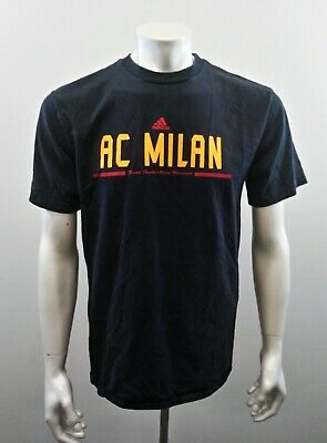 AC Milan Adidas Tee Soccer Football Men's Large Spell Out Crew Neck T Shirt