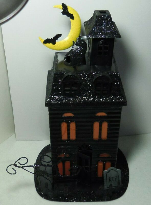 Halloween Haunted House Metal Tealight Candle Holder