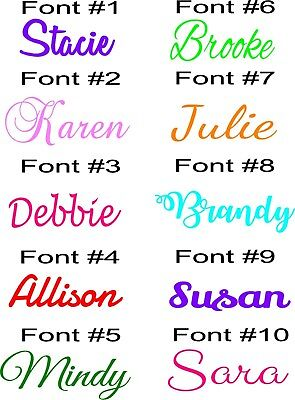 Personalized Name Monogram Wall Decal Sticker