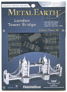 LONDON TOWER BRIDGE 3D Metal Earth Laser Cut Steel Mini Model Puzzle