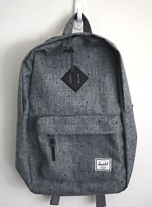 HERSCHEL SUPPLY CO HERITAGE 14.5L CROSSHATCH GREY BACKPACK MSRP  60 NEW  w TAG! eb6635e5755b1