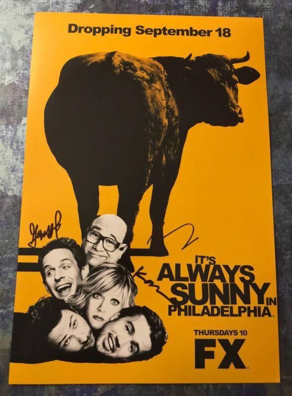 Dennis Mac Dee * IT'S ALWAYS SUNNY IN PHILADELPHIA * Signed 12x18 Photo AD5 COA