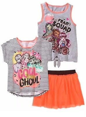 3 Piece Scooter - NEW Girls MONSTER HIGH 3 Piece Set w/ Scooter Skirt Size: XL(14/16) or L(10/12)