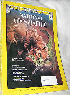 National Geographic Aug 1978 Dinosaurs Aluminum Georgia New Zealand Mt Goats