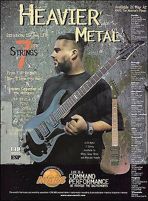 Deftones Stephen Carpenter ESP LTD 7-String H207 M207 guitar series 8 x 11 ad