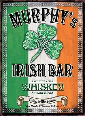 IRISH BAR DECORATION WALL DOOR SIGN METAL PLAQUE FOR HOME BAR KITCHEN PICTURES  ()