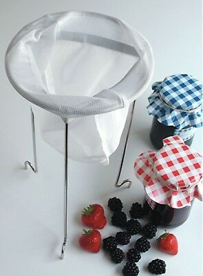 Tala Jam Straining Kit Jelly Preserve Soup Making Chrome Stand Strainer & Bag