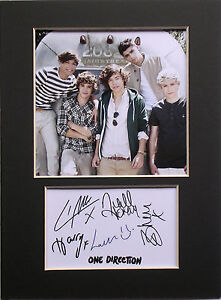 One-Direction-signed-autograph-mounted-photo-print-display-1