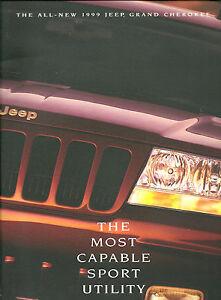 HUGE-1999-JEEP-GRAND-CHEROKEE-Brochure-Catalog-LAREDO-LIMITED