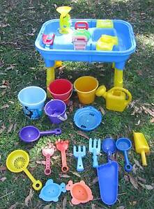 Sand & Water Play Table Waterpark + Sand Pit Toys x 18 Items Allambie Heights Manly Area Preview