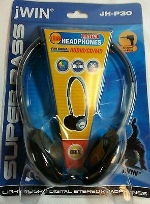 Jwin Super Bass Digital Headphones Light Weight New Package JH-P30 Audio/CD/MD