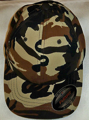 Brown Brushed Twill Hat (Flexfit Brushed Twill Youth Camo Brown and Kahki)