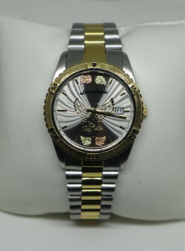 Landstroms G LMWB531/GRY Black Hills Gold Eagle Watch with Gray Dial