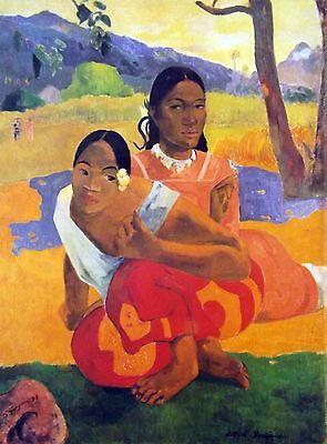 "Paul Gauguin A Portfolio of Six Fine Art Prints 1988 12"" x 16"" Nafea Faa Ipoipo"