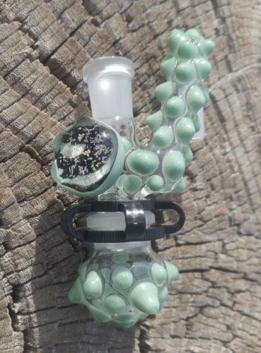 Mint Galaxy 14mm Female - Male Drop Down Lab Glass Reclaim Removable Jar USA