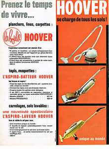 publicite advertising 054 1961 hoover aspiro laveur. Black Bedroom Furniture Sets. Home Design Ideas