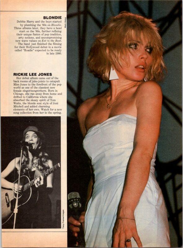 1980 VINTAGE 8X11 MAGAZINE PHOTO CLIPPING SEXY BLONDIE DEBBIE HARRY WHITE DRESS