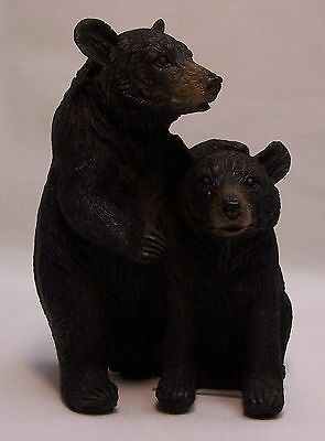 Black Bear Couple B Figurine Rustic Home/Cabin Decor (NAD)