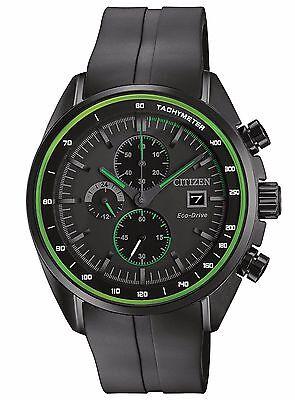 Citizen Eco-Drive Men's CA0595-11E Chronograph Green Accents Black Sport Watch
