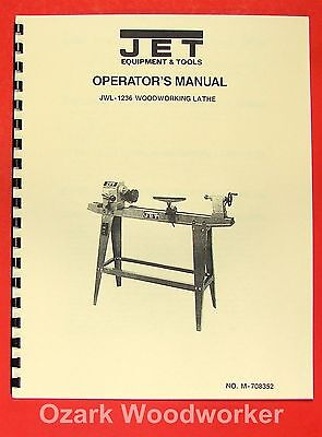 Jetasian Jwl-1236 Wood Lathe Operators Parts Manual 0377