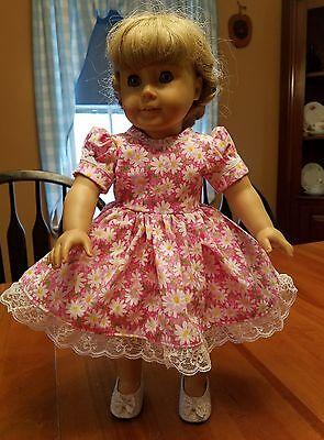 "Handmade American Girl Pink Daisies Doll Dress fits 18"" Dolls!"