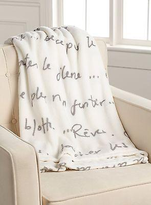 Parisian Themed Decor (FRENCH Language PARISIAN Style Theme SOFT THROW BLANKET Home Decor Words)