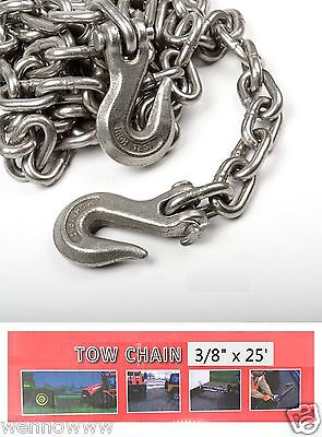 38 X 25ft Tow Chain Automotive Truck Towing Log Chain