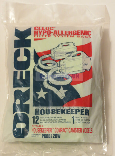 Genuine Oreck BB280E Canister Vacuum Bags PKBB12DW Housekeeper 12 Pack