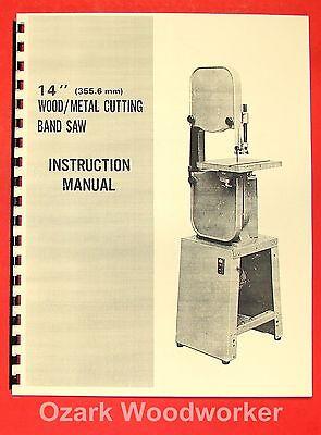 Jetasian Jbs-14 14 Metalwood Band Saw Operators Parts Manual 0385