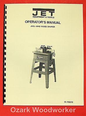 Jetasian Jws-18ho Wood Shaper Operators Parts Manual 0379