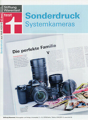 Prospekt Katalog Test Panasonic Lumix G System Systemkameras G9 Testsieger