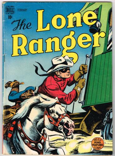 The Lone Ranger   # 8   1949  origin retold   Dell Comics