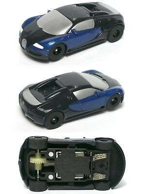 Micro Scalextric Bugatti Veyron Hyper-Cars 1:64 Slot Car Set G1108T BOX DAMAGE