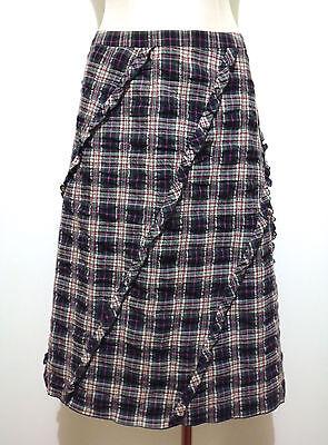 WEEKEND by MAX MARA Gonna Donna Lana Cotton Wool Scotland Woman Skirt Sz.S - 40