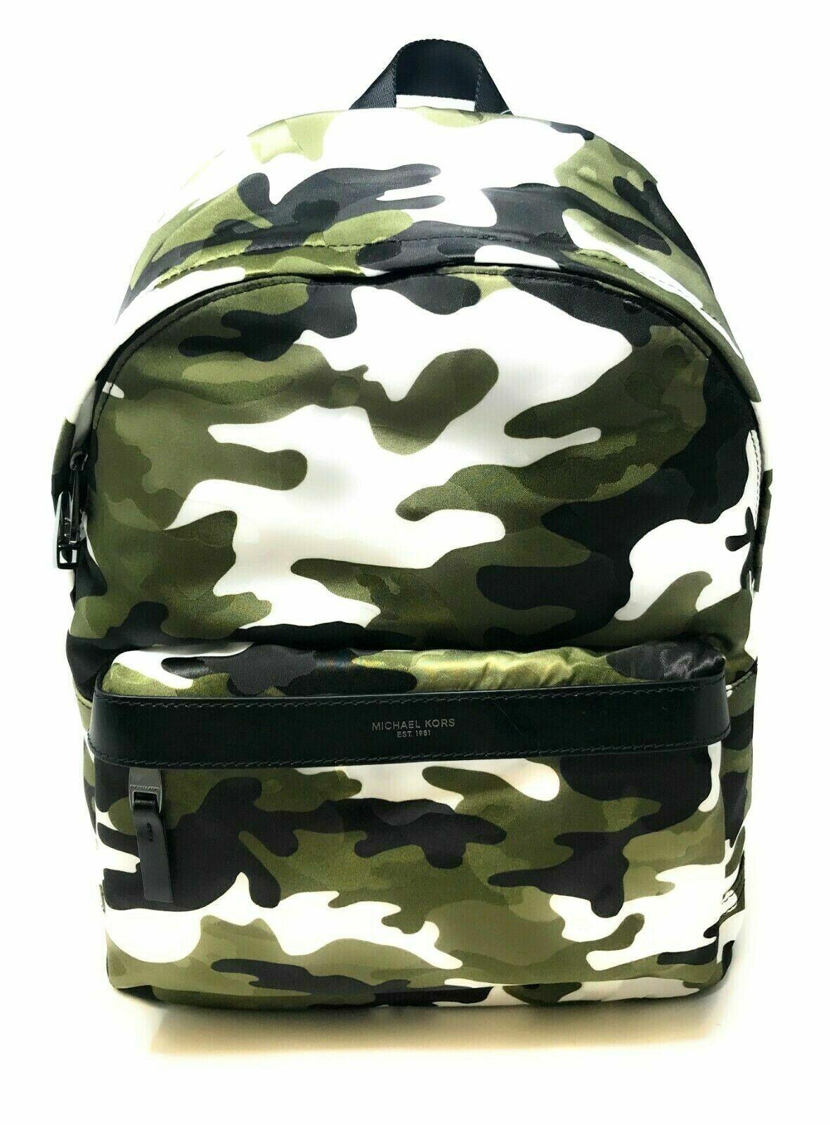 Michael Kors Men's Kent Nylon Army Camo Tech Backpack (Select Color) Bags