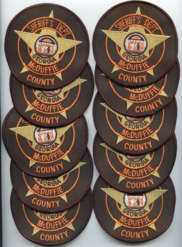 McDUFFIE COUNTY GEORGIA Trade Stock 10 Police Patches SHERIFF POLICE PATCH