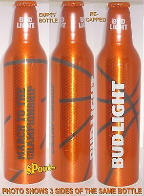 2016 TEXAS MARCH MADNESS BASKETBALL ORANGE NCAA FINALS ALUMINUM BEER BOTTLE-CAN
