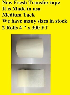 2 Roll 4 X 300 Feet Application Transfer Tape Vinyl Sign Adhesive Made In Usa