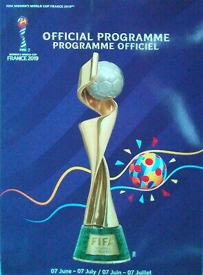 off. Programm FIFA Frauen Fussball Weltmeisterschaft Frankreich 2019 Deutschland