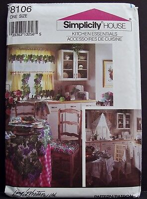 Simplicity Oven Mitt - Simplicity Kitchen Appliance Covers Oven Mitt Potholder Sewing Pattern 8106 OOP