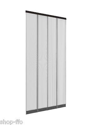 Lamellen-Vorhang 100x220 cm Insektenschutz Fliegengitter schwarz Tür Terrasse