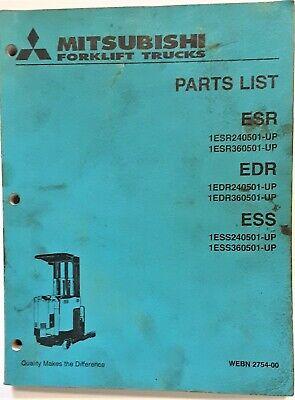 Mitsubishi Forklift Trucks Esr Edr Ess Parts List Manual Catalog Webn2754-00
