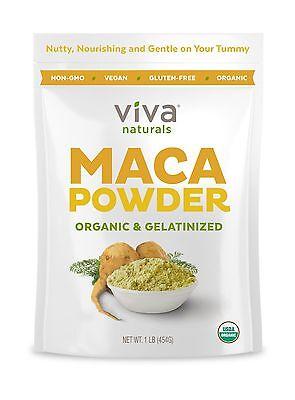 Viva Naturals Organic Maca Powder, Gelatinized for Enhanced