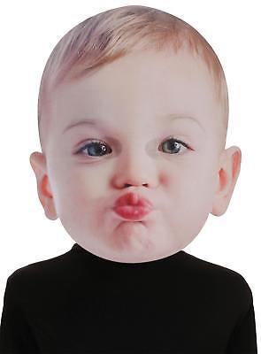 Erwachsene Riesig Baby Küssen Gesicht Schaum Gesichtsmaske Kostüm Se17942