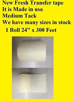 1 Roll 24 X 300 Feet Application Transfer Tape Vinyl Signs Adhesive Made Inusa