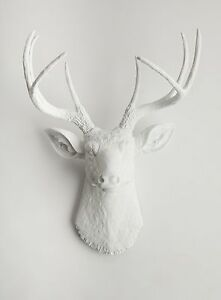 The Templeton - White Resin Deer Head- Stag Resin White Faux Taxidermy